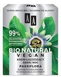 AA BIO NATURAL VEGAN Krem łagodzący na dzień i na noc Passiflora 50ml