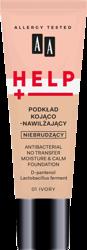 AA Help Podkład do twarzy kojąco-nawilżający 01 Ivory 30 ml