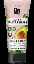 AA Super Fruits&Herbs krem do stóp awokado/szałwia 75ml