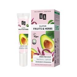 AA Super Fruits&Herbs krem pod oczy awokado/amarantus 15ml