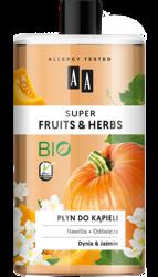 AA Super Fruits&Herbs płyn do kąpieli dynia/jaśmin 750ml