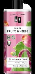 AA Super Fruits&Herbs żel do mycia ciała opuncja/amarantus 500ml