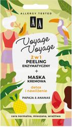 AA Voyage Voyage 2w1 peeling enzymatyczny+maska kremowa Papaja&Ananas 2x5 ml