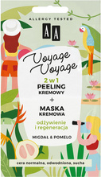 AA Voyage Voyage 2w1 peeling kremowy +maska kremowa Migdał&Pomelo 2x5ml