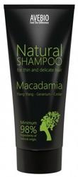 AVEBIO Natural Shampoo Macadamia - Naturalny szampon do włosów cienkich i delikatnych 200ml