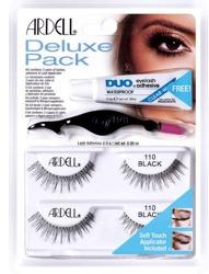 Ardell Deluxe Pack - Zestaw sztucznych rzęs w pasku 110 Black, 2 pary