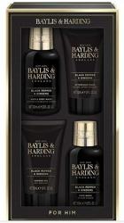 Baylis&Harding Zestaw męski Czarny Pieprz+Żeń szeń Płyn do mycia twarzy + Szampon do włosów + Balsam po goleniu + Żel pod prysznic