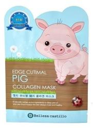 Belleza Castillo Pig Collagen Mask - Organiczna maseczka kolagenowa w płachcie 25g