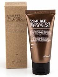 Benton Snail Bee High Content Steam Cream - Ultra nawilżający krem do twarzy z wysoką zawartością śluzu ślimaka 50g