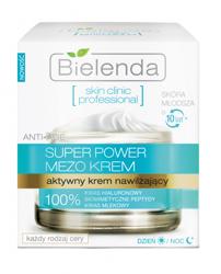 Bielenda Skin Clinic Professional Super Power Mezo Krem  - Aktywny krem nawilżający na dzień i noc, 50 ml
