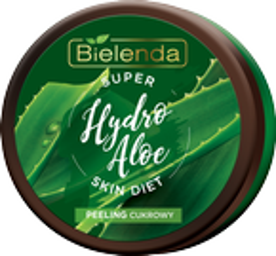 Bielenda Super Skin Diet Hydro Aloe Nawilżający peeling cukrowy Aloes 350g