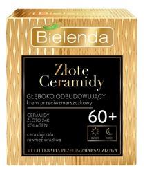 Bielenda Złote Ceramidy Głęboko odbudowujący przeciwzmarszczkowy krem do twarzy 60+ dzień/noc 50ml