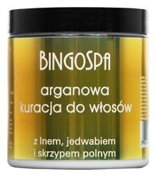 BingoSpa Arganowa kuracja do włosów z lnem i jedwabiem 250g
