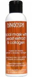 BingoSpa Maska drożdżowa do twarzy z kolagenem 150g