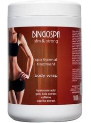 BingoSpa spa thermal treatment body wrap Termiczny zabieg SPA z kwasem hialuronowym, ekstraktem z Gotu Kola, kofeiną i aromatem paprykowym 1000g