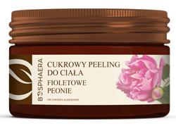 Bosphaera Cukrowy peeling do ciała Fioletowe peonie 200g