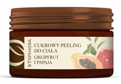 Bosphaera Cukrowy peeling do ciała Grejpfrut i papaja 200g