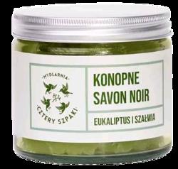 Cztery Szpaki Konopne mydło Savon Noir Eukaliptus/Szałwia 250g