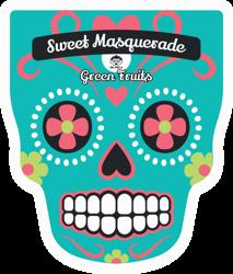 DR.MOLA Sweet Masquerade sheet mask Green Fruits Oczyszczająca maska w płachcie 23ml