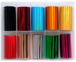 Deni Carte Folia Transferowa Kolor Mix KPL 10szt. 4cm nr. 2