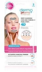 Dermo Pharma Głęboko oczyszczające plastry na czoło i brodę 4D 2szt.