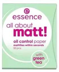 Essence All About Matt Green Tea Bibułki Matujące 50 sztuk