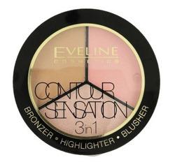 Eveline Contour Sensation 3w1 Paleta do konturowania 01