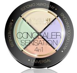 Eveline Cosmetics 4w1 Sensation Paleta korektorów