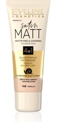 Eveline Cosmetics Satin MATT Matująco-kryjący podkład 4w1 102 Vanilla 30ml