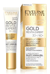 Eveline GOLD Lift Expert Luksusowy złoty krem-żel ujędrniający pod oczy i na powieki 30+/40+ 15ml