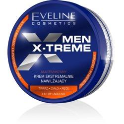 Eveline Men X-treme Sensitive Łagodzący krem silnie nawilżający do twarzy, ciała i rąk 100ml