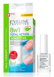 Eveline Nail Therapy 8w1 Sensitive Odżywka do paznokci z kwarcem 12ml