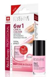 Eveline Odżywka do paznokci nadająca kolor 6w1 ROSE