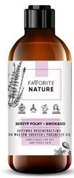 FAVORITE odżywka regeneracyjna do włosów suchych i puszących się - Awokado i Skrzyp Polny 250ml