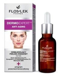 Floslek Anti Aging Peeling kwasowy odmładzający do twarzy na noc 30ml