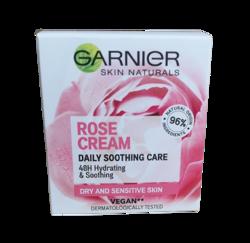 GARNIER ROSE CREAM Odżywczy krem do twarzy z wodą różaną 50ml