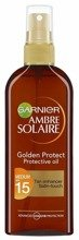 Garnier Ambre Solaire UV SPF15 Golden Protect Oil Olejek ochronny do opalania 150ml