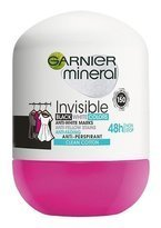 Garnier Deo Invisible Clean Cotton Antyperspirant roll-on 48h 50ml