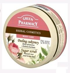 Green Pharmacy Peeling Do Ciała Róża Zielona Herbata 300ml