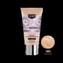 HEAN Feel Natural podkład kryjąco-nawilżający N02 Natural 30ml