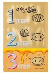 Holika Holika Pig-clear Honey Gold 3-step kit Oczyszczające plastry na nos