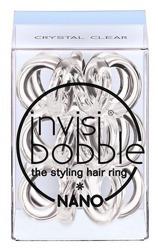 INVISIBOBBLE NANO Crystal Clear Przezroczysta mała gumka do włosów, 3 sztuki