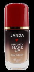 JANDA Kryjący make-up fluid fleksyjny 01 Jasny beż 30ml