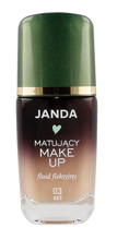JANDA Matujący make-up fluid fleksyjny 03 Beż 30ml