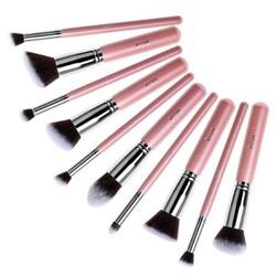 Jessup Brushes Set T068 Zestaw 10 pędzli do makijażu Pink/Silver