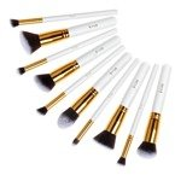 Jessup T065 White/Gold Zestaw 10 pędzli do makijażu