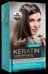 KATIVA Anti-Frizz XPERT REPAIR Zestaw do keratynowego prostowania włosów. Naprawa i odbudowa