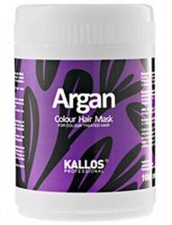 Kallos Professional Argan Colour Hair Mask - Odżywcza maska arganowa do włosów, 1000 ml