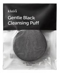 Klairs Gentle Black Cleansing Puff Delikatna gąbka do mycia twarzy