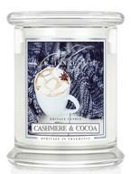 Kringle Candle Medium 2 Wick Classic Cashmere Cocoa - Słoik świeca średnia z dwoma knotami 411g